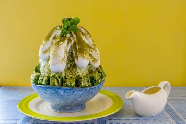 Korean shaved ice dessert