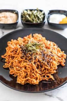 Korean spicy instant noodles