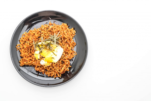 Korean spicy instant noodles