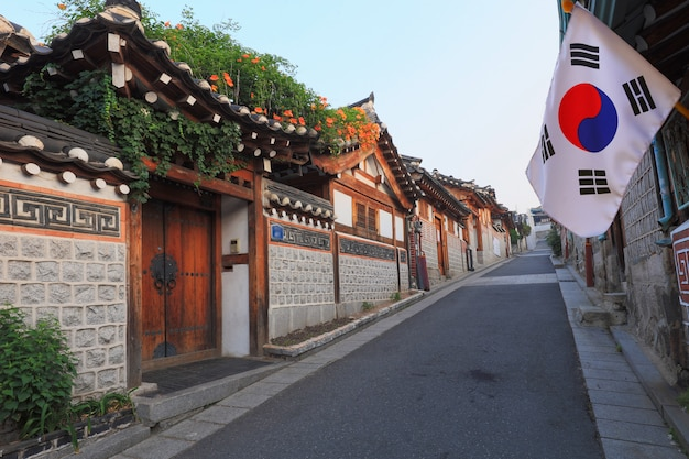 Korean style architecture in seoul, south korea