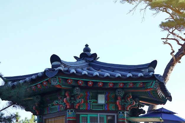 Korean traditional architecture roof