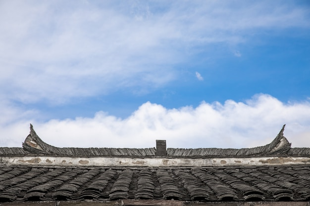 Korean wooden roof