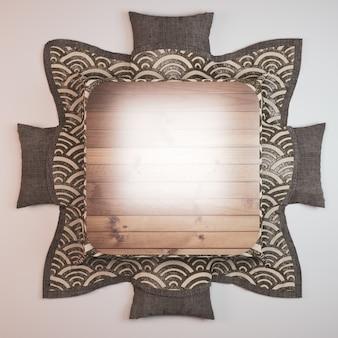 Стиль и подушка низкой таблицы kotatsu японский на белой предпосылке.