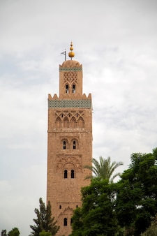 Koutubia mosque in marrakesh