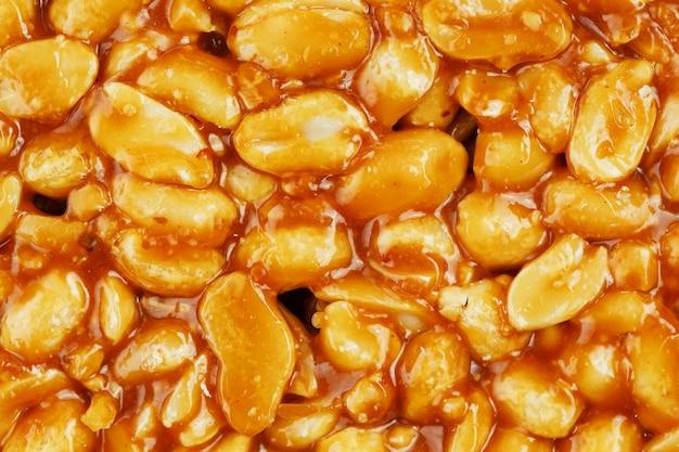 Kozinaki from golden, roasted peanuts beans