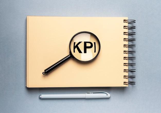 Kpiの頭字語の碑文。主要業績評価指標の概念。