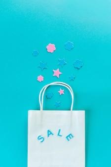 Kraft bag. eco packaging for shopping.