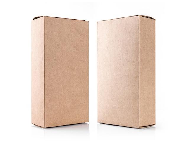 흰색 절연 재활용 된 종이로 만든 크 래 프 트 갈색 상자