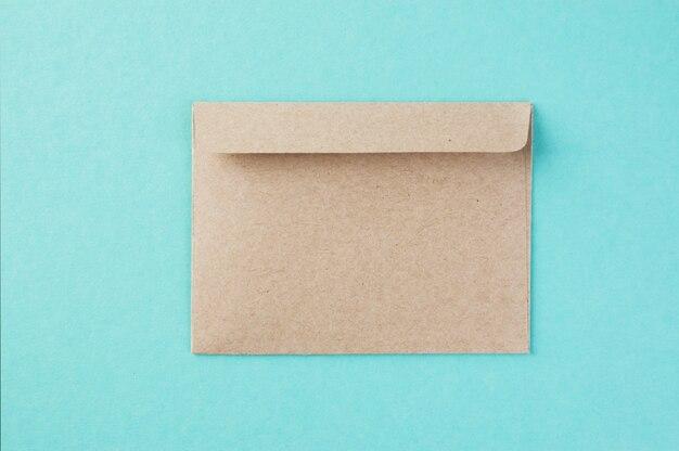 Kraft envelope on mint