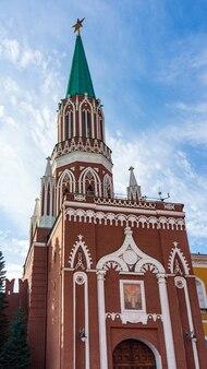 赤の広場、モスクワ、ロシアのクレムリン。