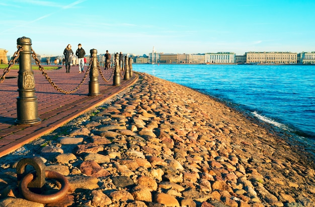 Kronverksky strait. hare island. st. petersburg in autumn .