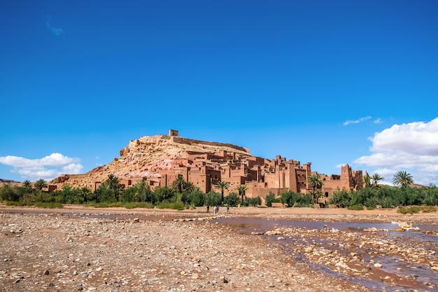 Ksar of ait benhaddou,  moroccan earthen clay architecture. ouarzazate, morocco.