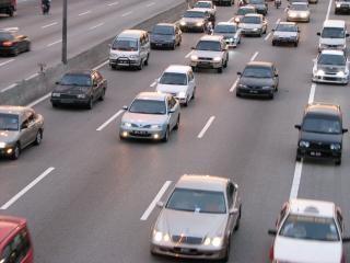 Kuala lumpur highway view, cars