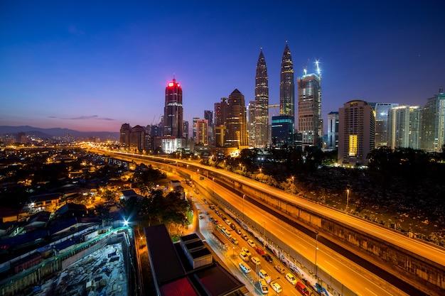 Kuala lumpur ,malaysia - march 29 2016: kuala lumpur tower skyline in malaysia