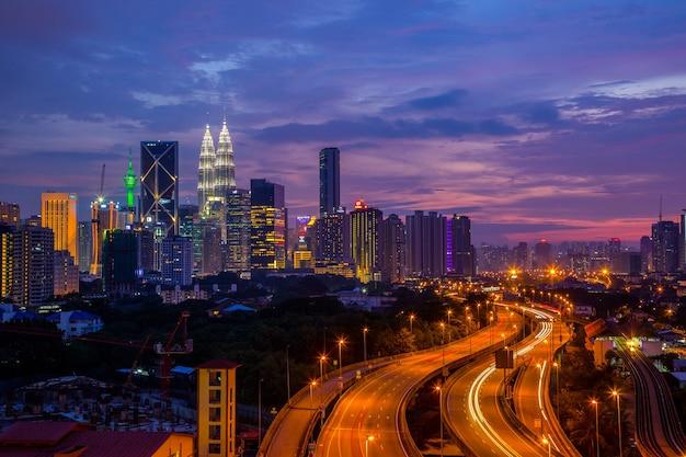 Kuala lumpur tower skyline in malaysia