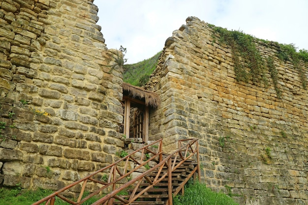 Kuelap ancient fortress, the lost city chachapoyas culture in the amazonas region, peru