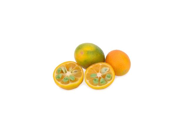 Kumquat isolated on white background