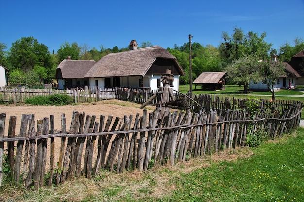Kumrovec is traditioanal croatian village, croatia