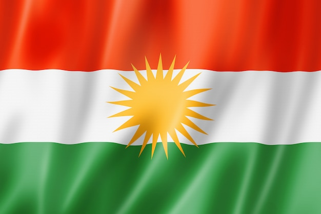 クルド民族旗、アジア