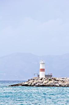 The kusadasi bay lighthouse in turkey, aegean sea
