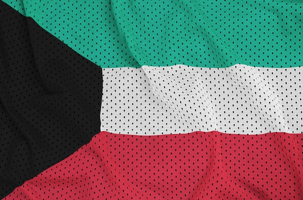 Kuwait flag printed on a polyester nylon mesh