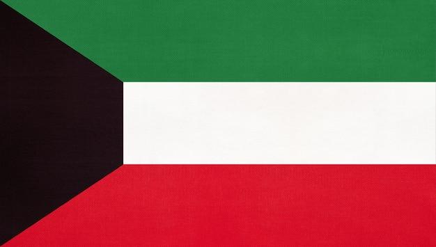 Kuwait national fabric flag