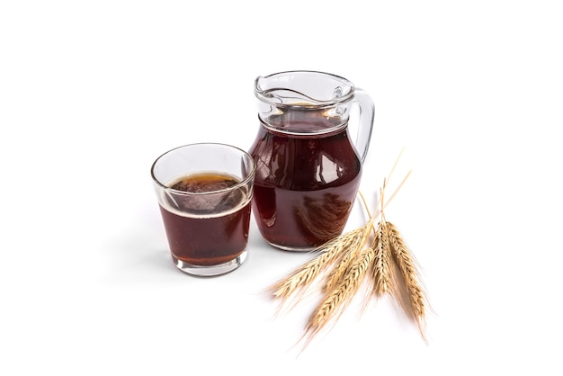 Kvass isolated on white