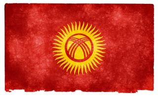 Kirghizistan grunge flag