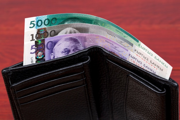 Kyrgyzstani money  som in the wallet
