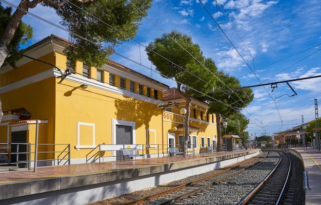 La canada train station in paterna of valencia
