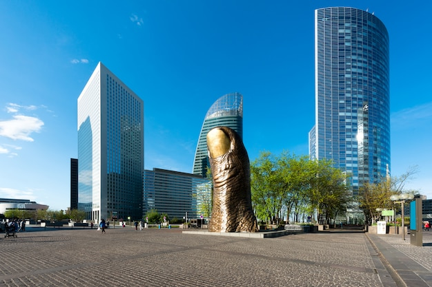 La defense is biggest business district in paris, france