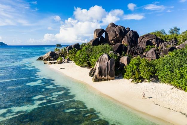 La digue, пляж сейшельских островов