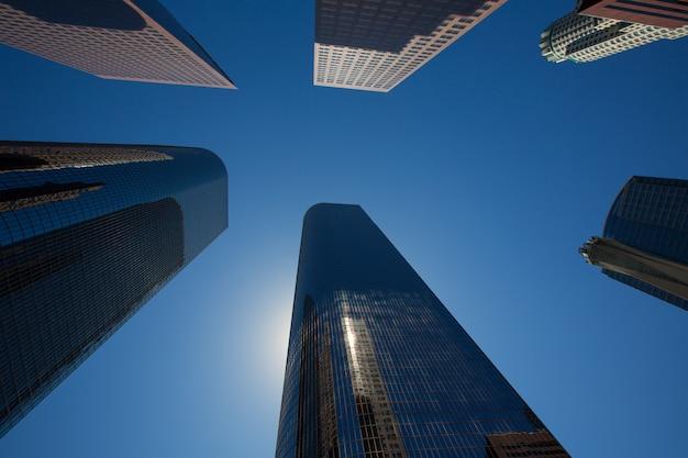 La los angeles downtown skyscrapers buildings