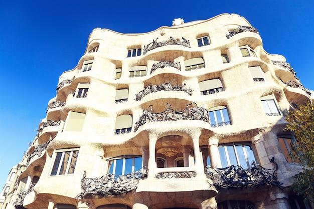 La pedrera building in barcelona