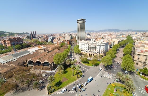 La rambla。バルセロナ、スペイン