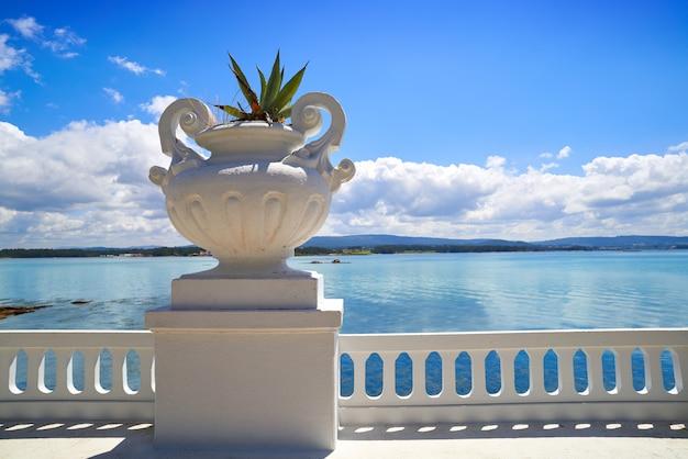 La toja island toxa beach flower pot in pontevedra