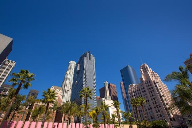Laダウンタウンロサンゼルスパーシングスクエアパームトレス