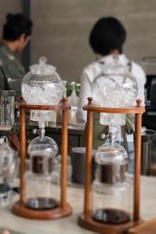 Лабораторная пробирка и оборудование для кофе