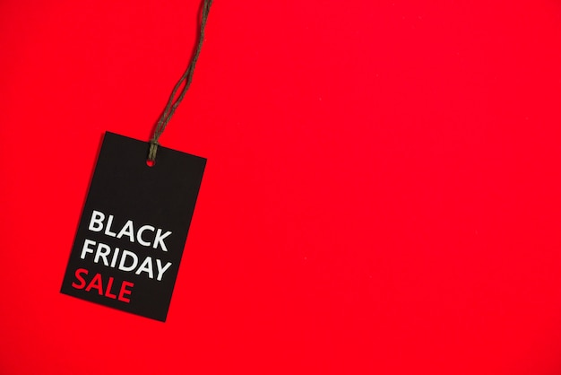 Label with black friday inscription