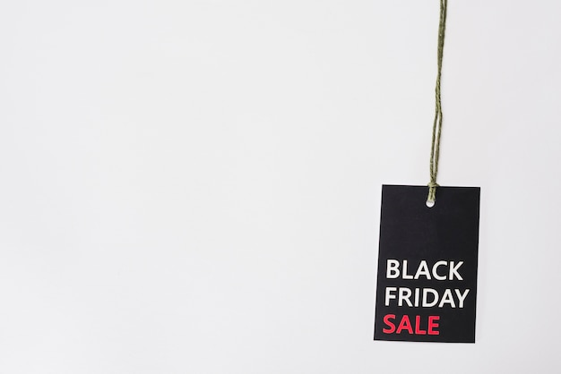 Label with black friday title