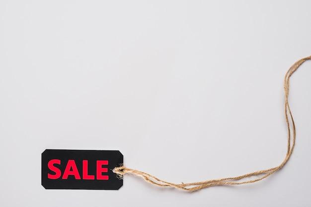 Label with sale inscription