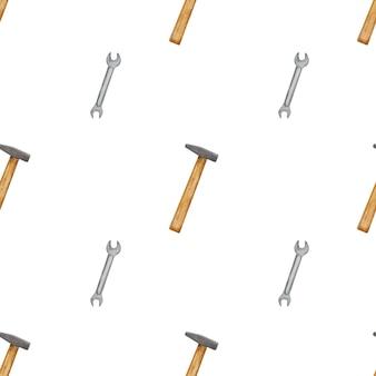 노동절. 건설 도구의 아름다운 그림. 위에서보기, 근접 촬영. 축하를위한 준비.