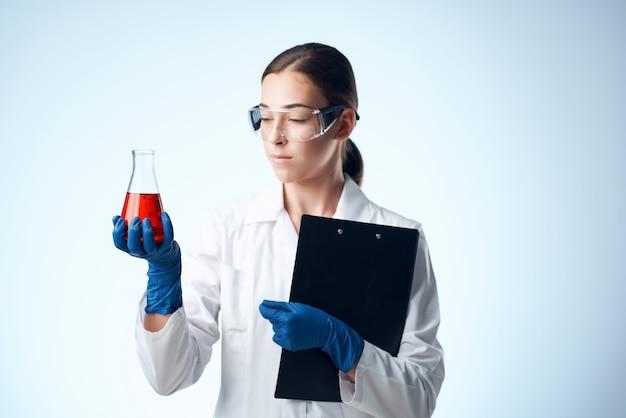 Laboratory assistant research diagnostics medicine experiment. high quality photo