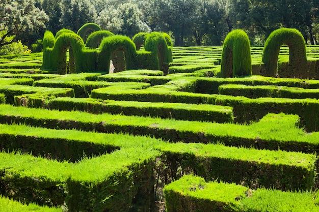 바르셀로나에서 미로 공원에서 미로