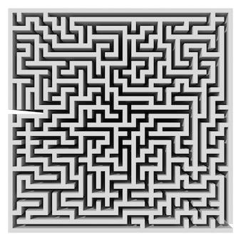Лабиринт. компьютерная графика для бизнес-концепции