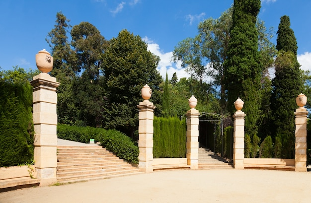 Labyrinth park of horta  in barcelona