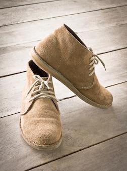 Scarpe di moda in pelle lato pizzo