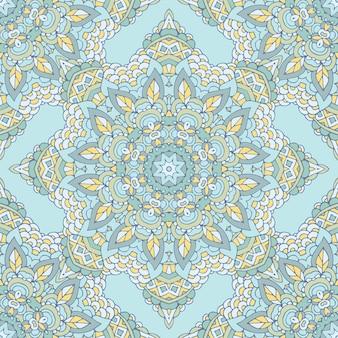 ひもで落書き抽象的な装飾的な青いイラスト。