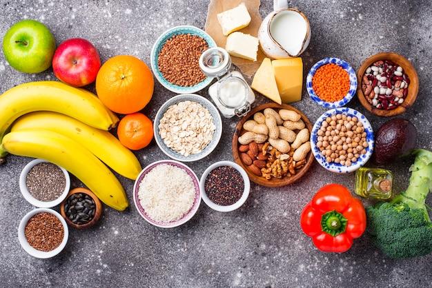 Lacto вегетарианская диета концепция. здоровая пища