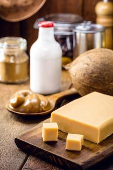 Веганские сладости без лактозы из кокосового молока, домашняя dulce de lethe